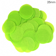 Lime Green Tissue Paper Confetti | 25mm Round | 100g Bag